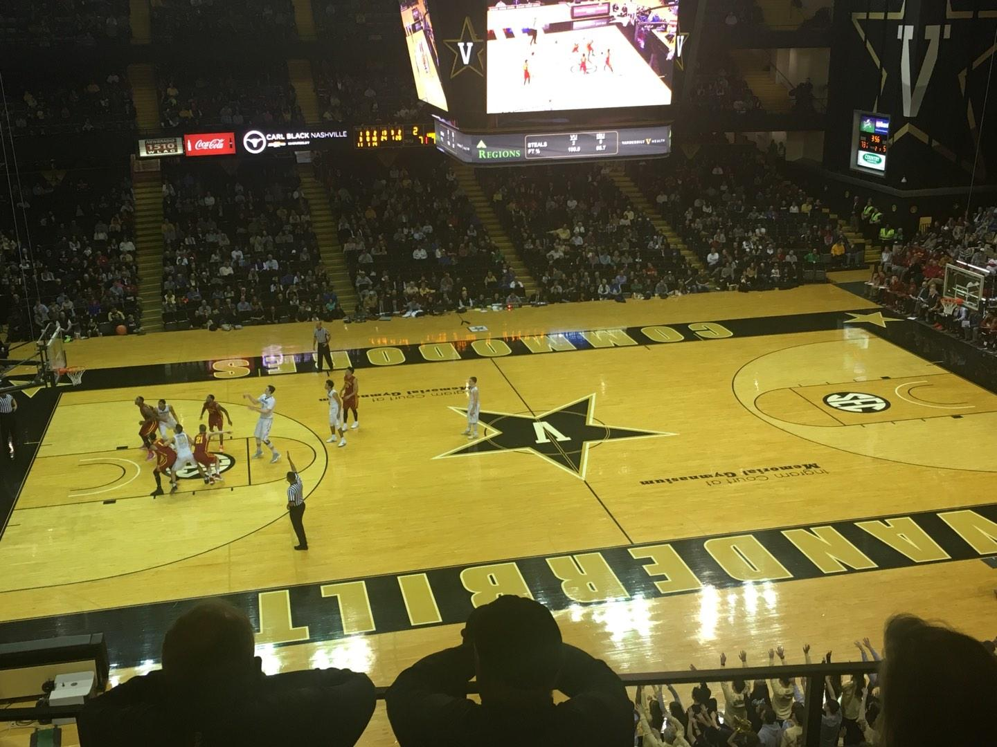 Memorial Gymnasium (Vanderbilt) Section 3J Row 5 Seat 9