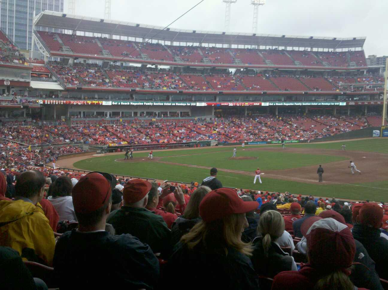 Great American Ball Park Section 133 Row II  Seat 7