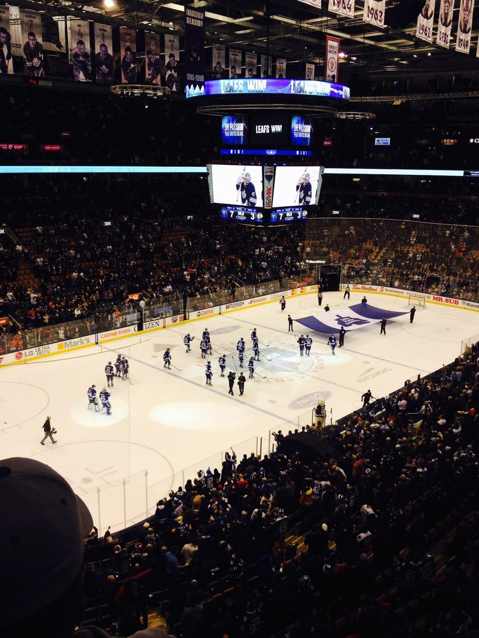Toronto Maple Leafs Seat View for Air Canada Centre Section 324, Row 2, Seat 11