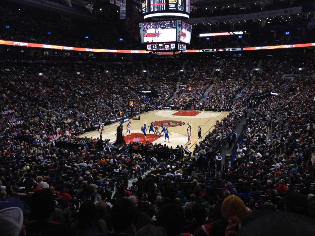 Toronto Raptors Seat View for Air Canada Centre Section 112, Row 25, Seat 11