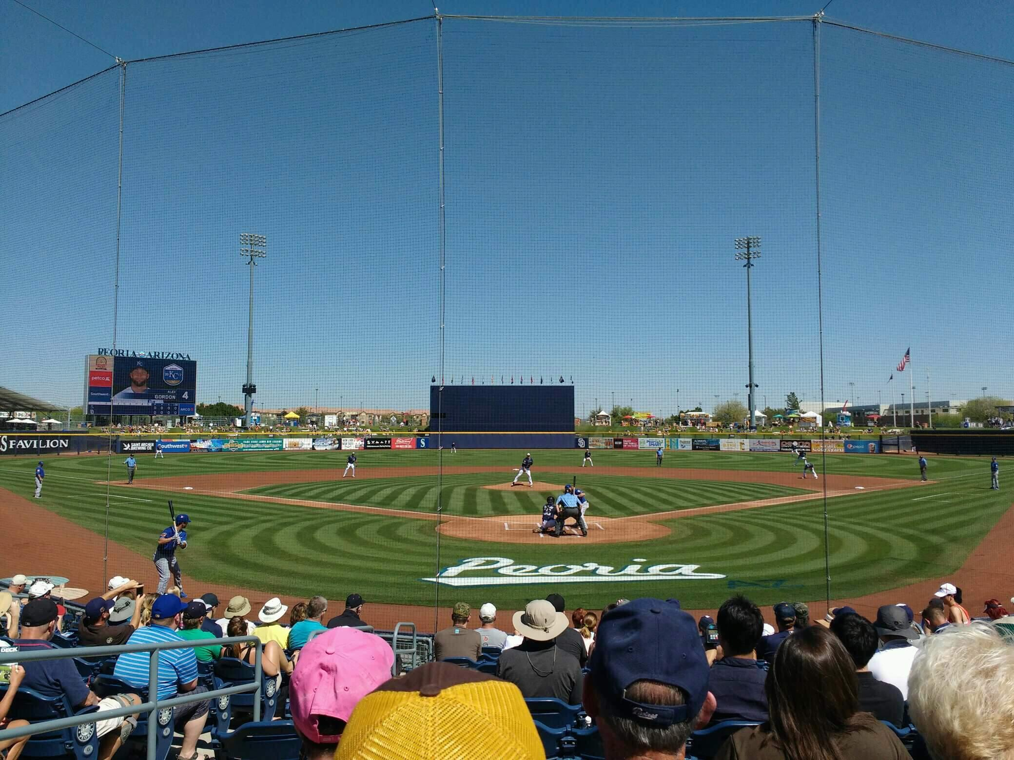 Peoria Sports Complex Section 100 Row n Seat 11