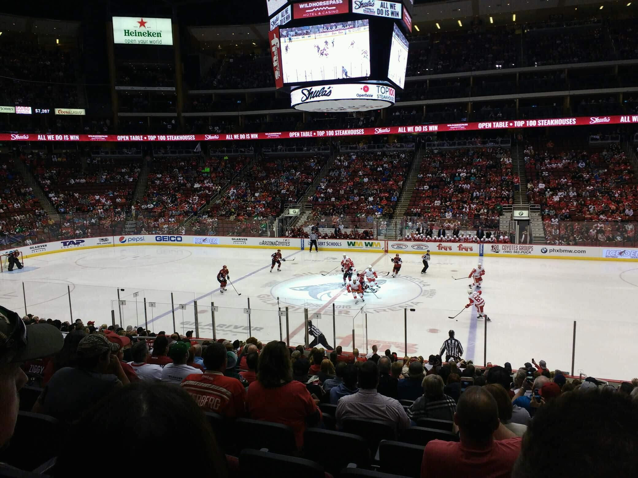 Gila River Arena Section 128 Row s Seat 4