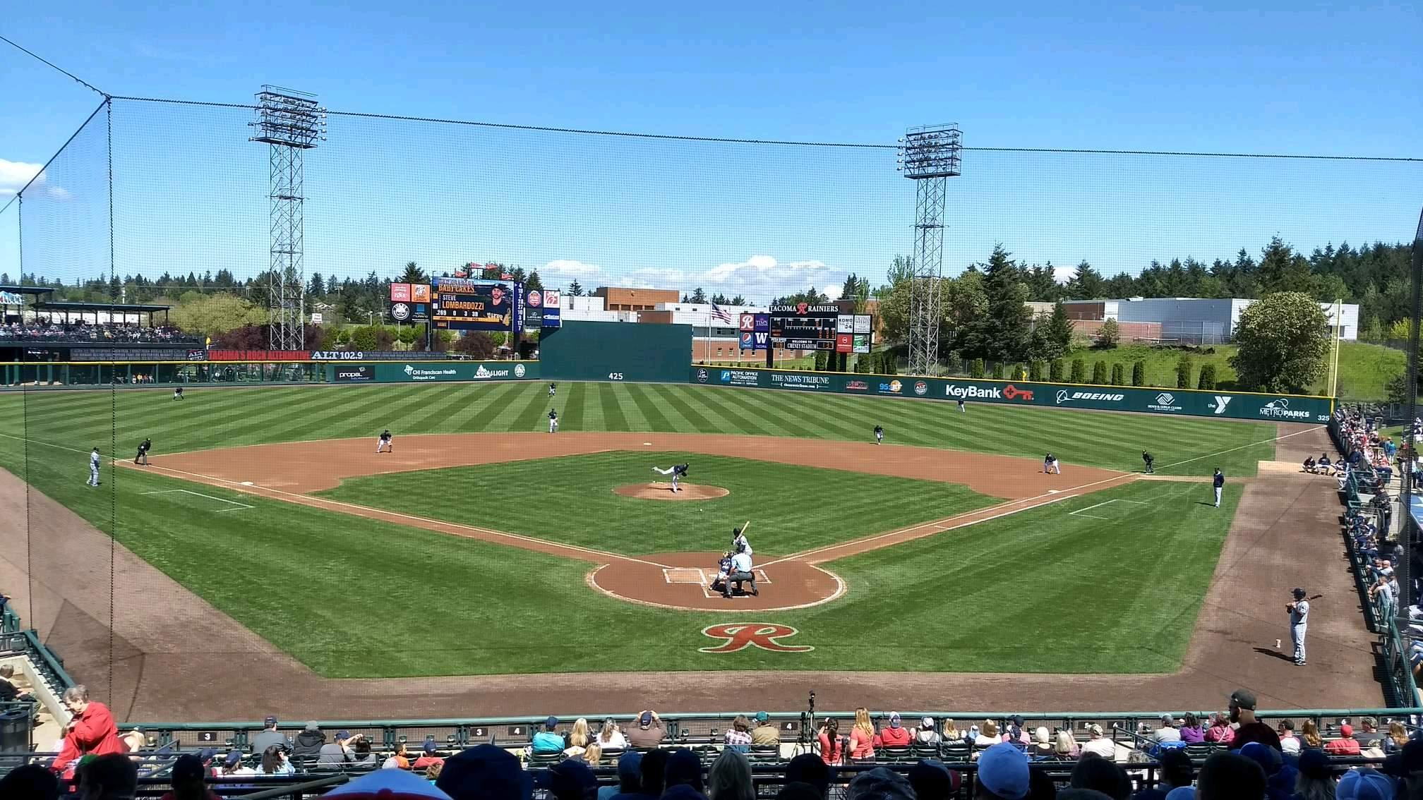 Cheney Stadium Section H Row 10 Seat 1