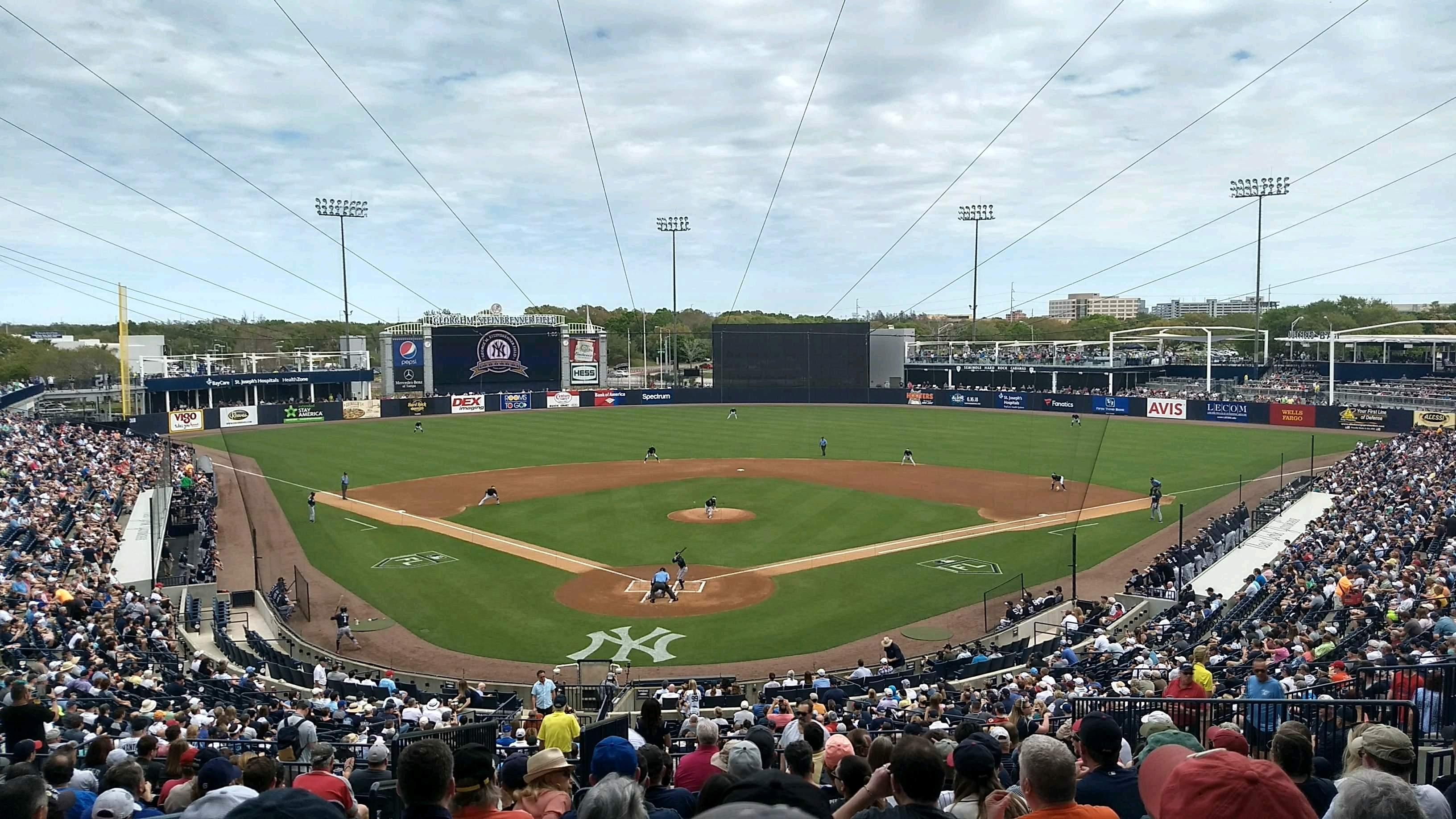 George M. Steinbrenner Field Section 210 Row O Seat 22