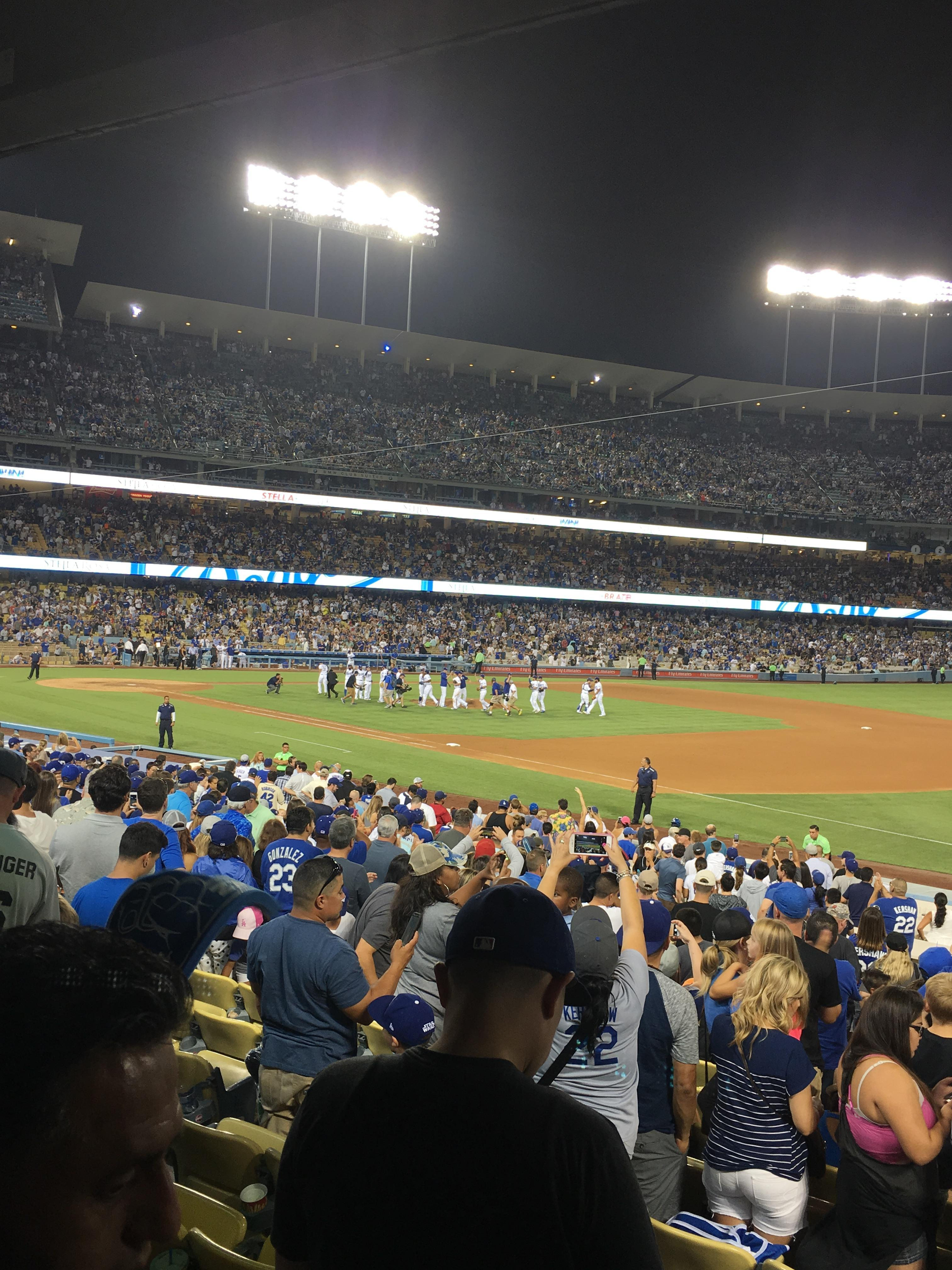 Dodger Stadium Section 34FD Row U Seat 4