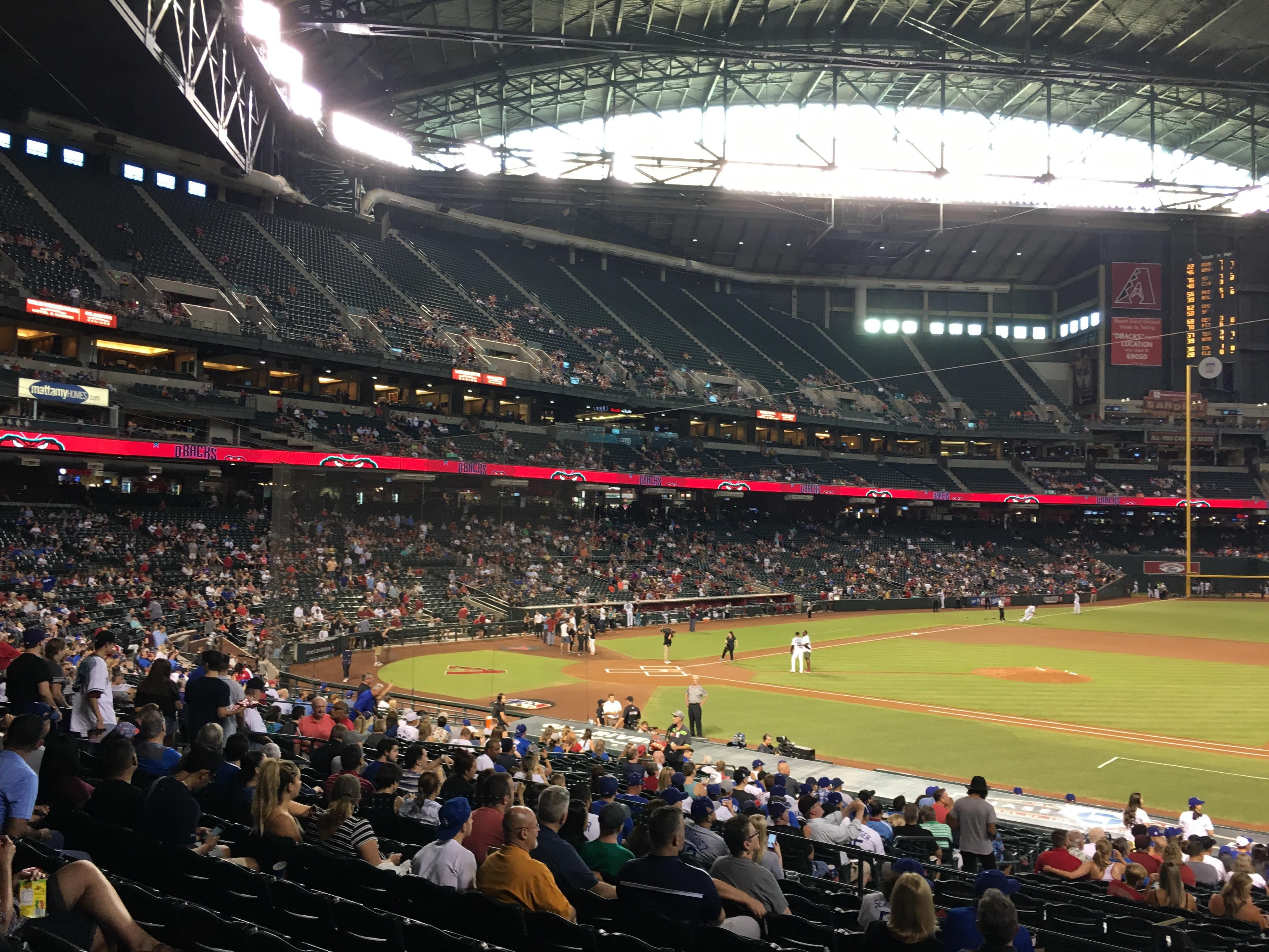 Chase Field Section 115 Row 31 Seat 20