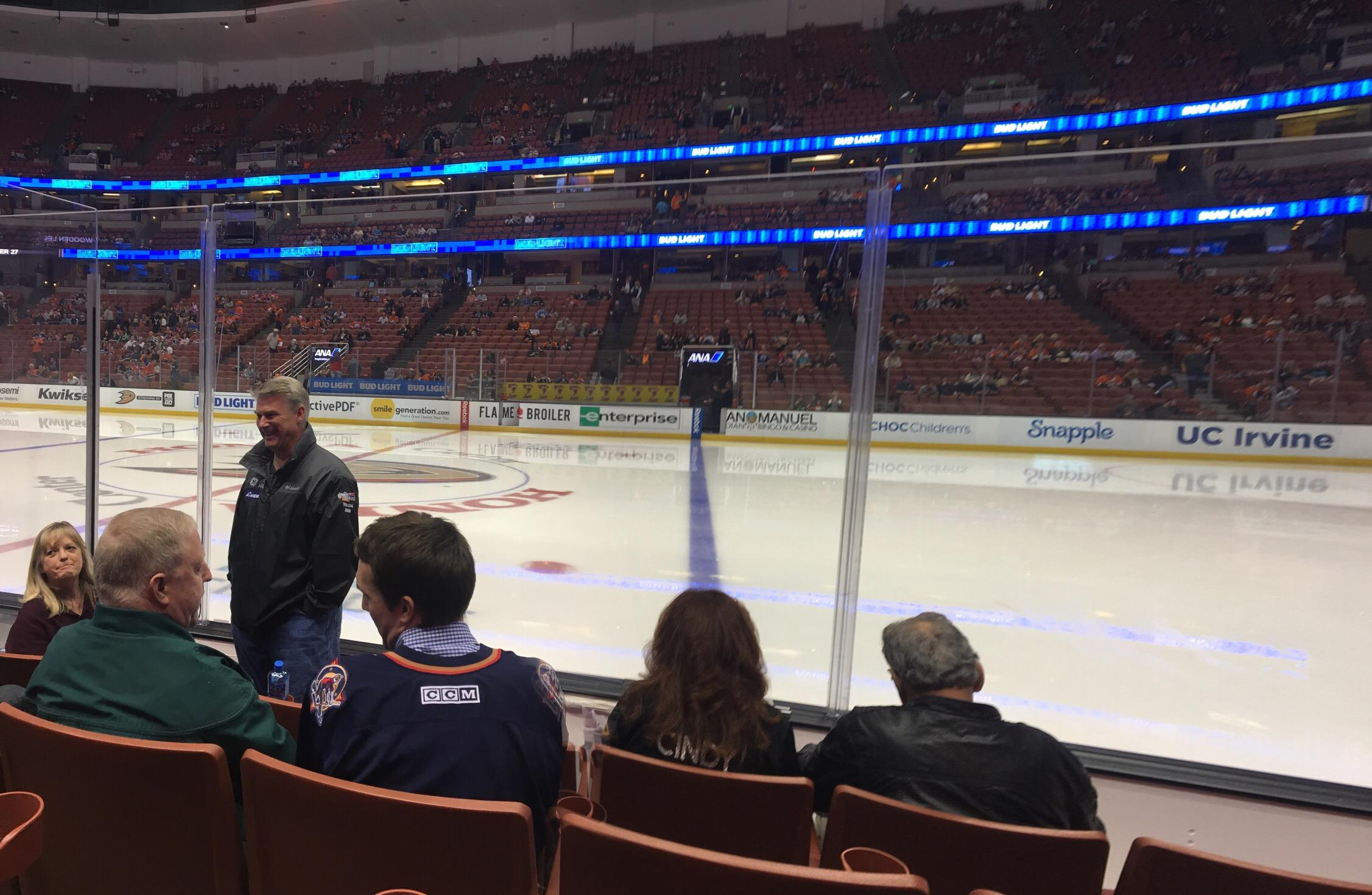 Honda Center Section 221 Row D Seat 10