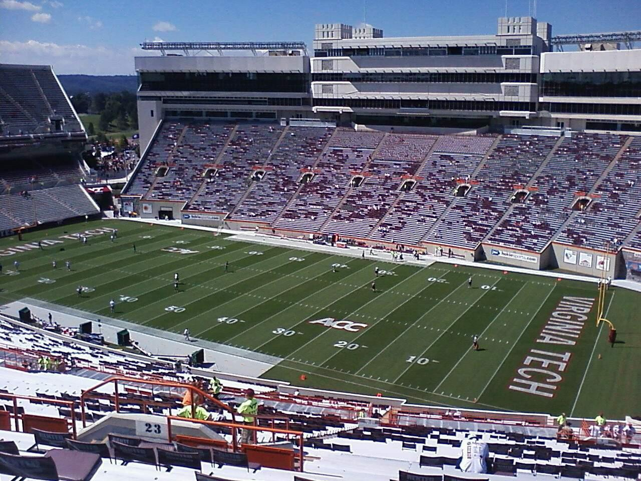 Lane Stadium Section 23