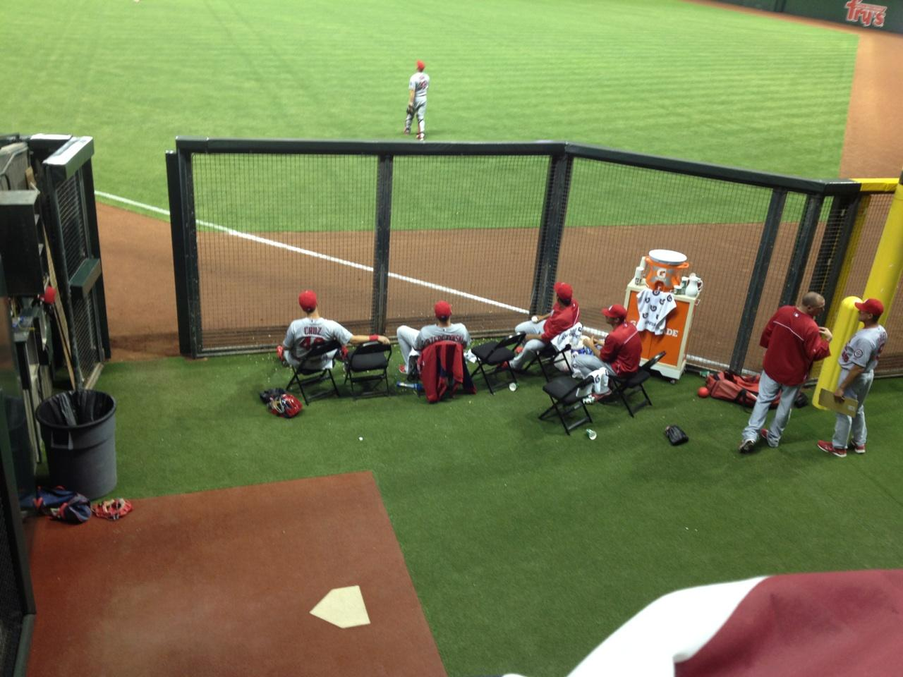 Chase Field Section 108 Row 25 Seat 11