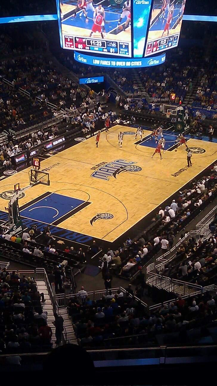 Amway Center Section 230 Row 4 Seat 17