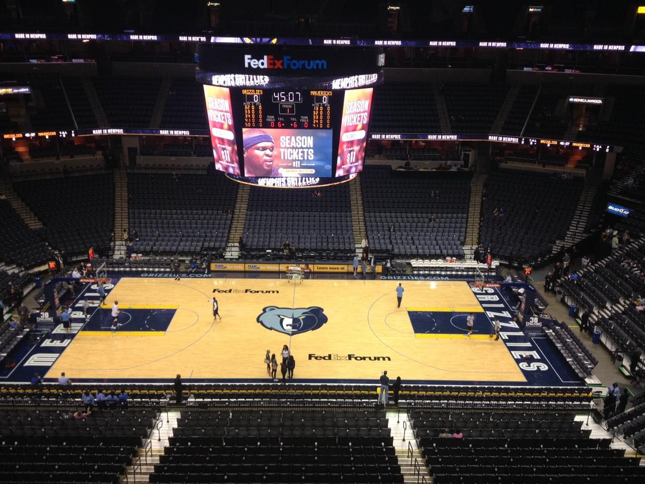 Seat View for FedEx Forum Section 225, Row A, Seat 19
