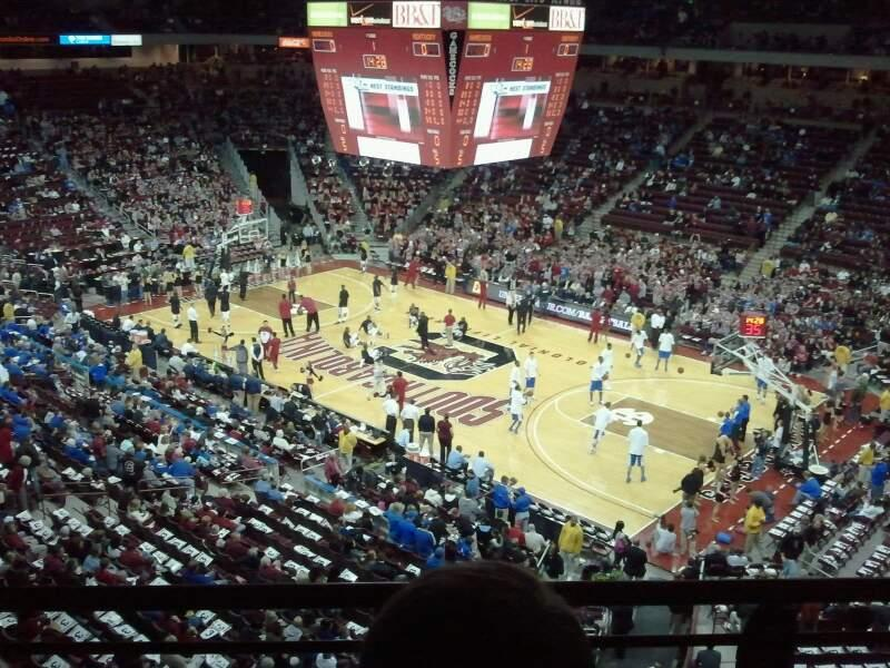 Colonial Life Arena Section 205 Row 2 Seat 8