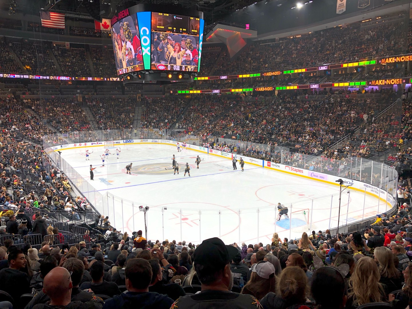 T-Mobile Arena Section 19 Row W Seat 17