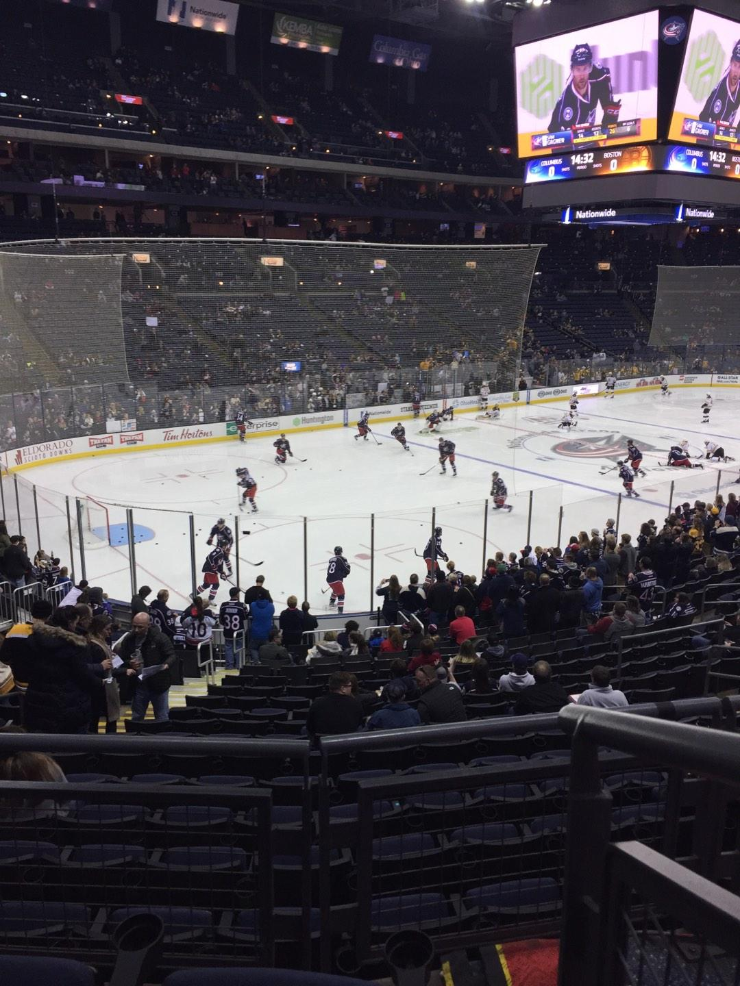 Nationwide Arena Section 117 Row CC Seat 1