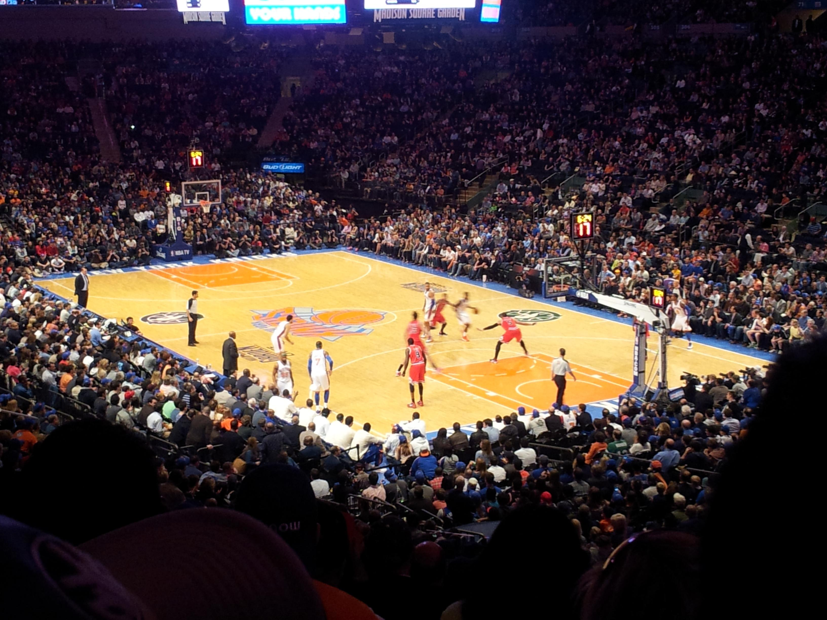 New York Knicks Madison Square Garden Section 110
