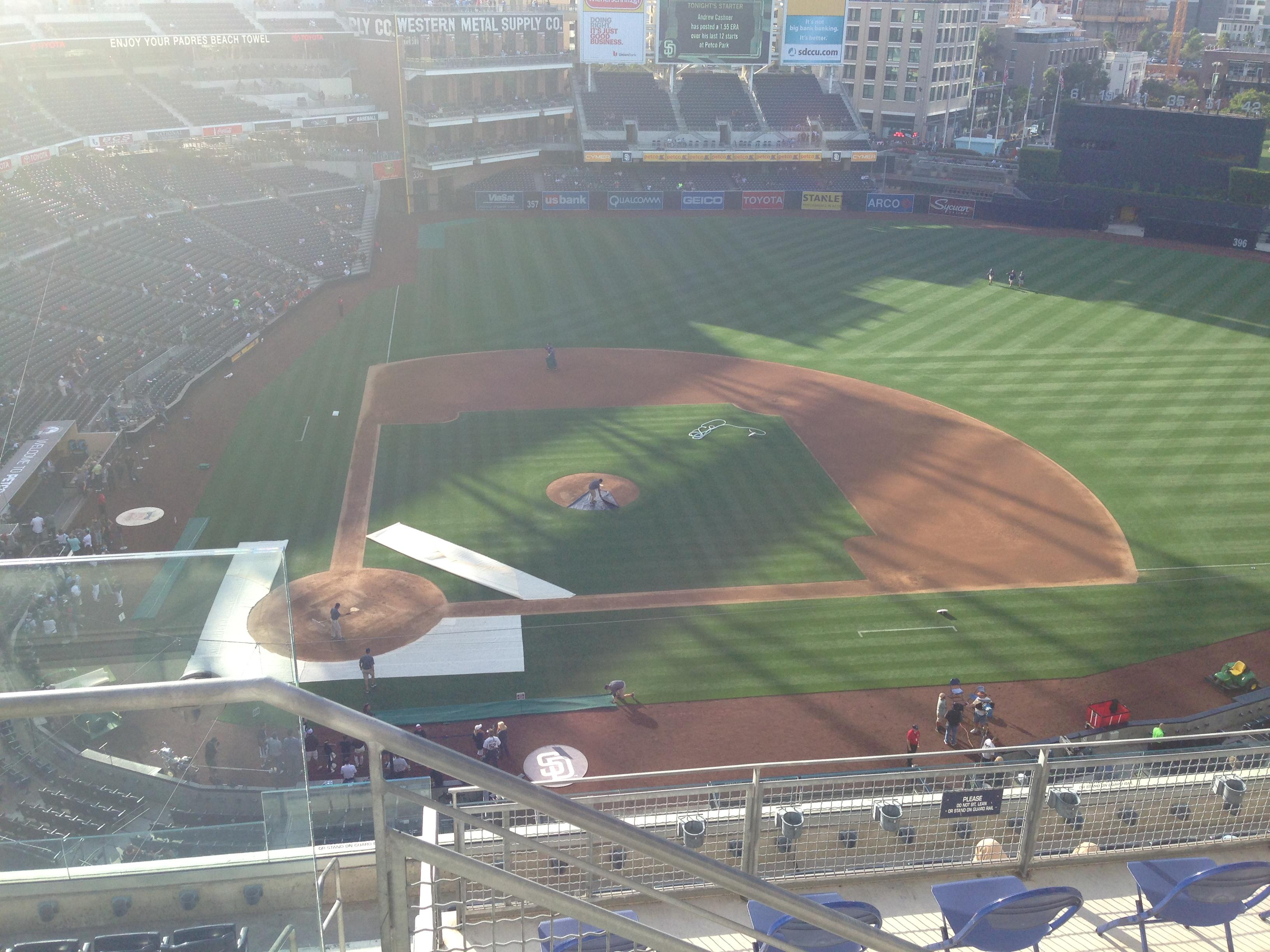 PETCO Park Section 309 Row 9 Seat 1