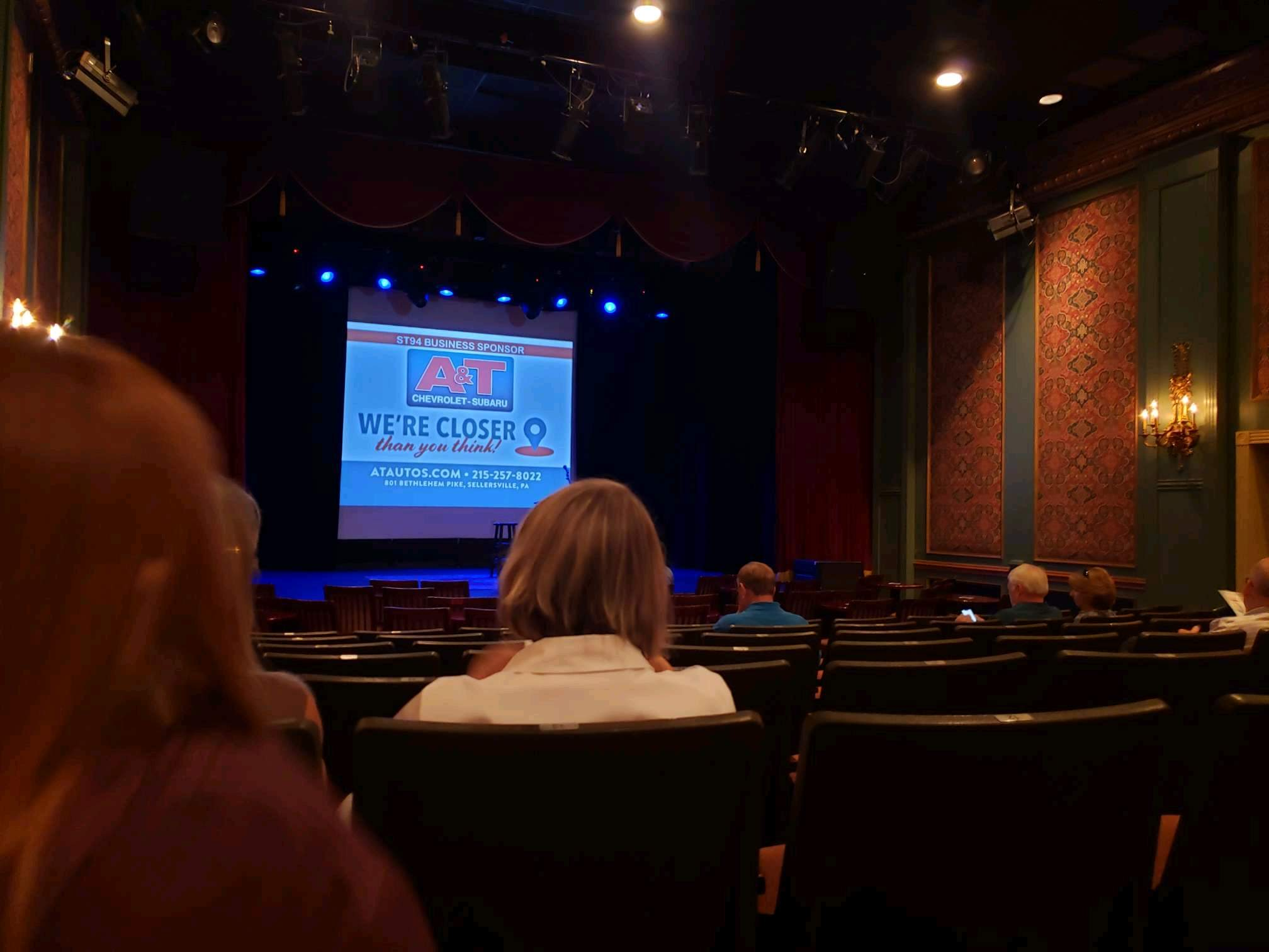 Sellersville Theater Section First half Row H Seat 14