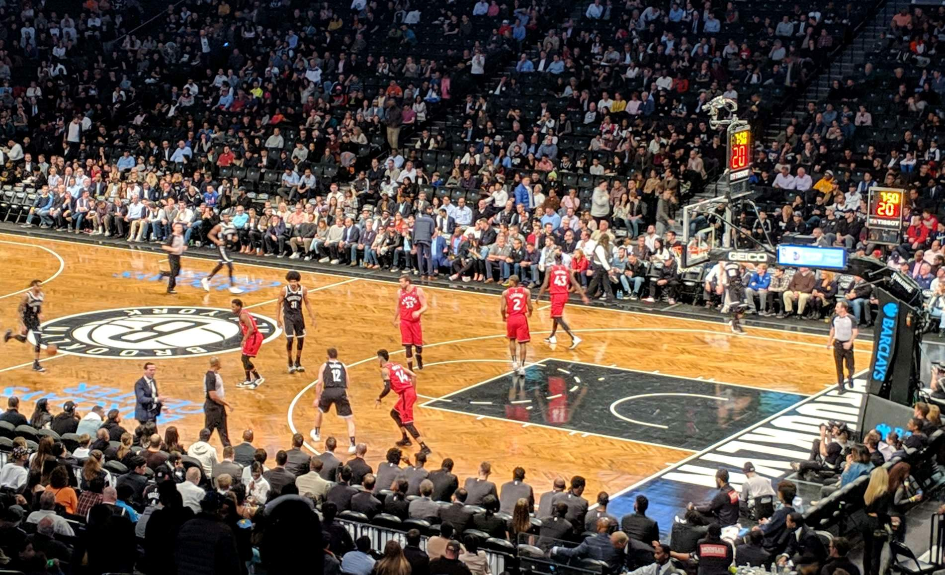 Barclays Center Section 105 Row 5 Seat 2