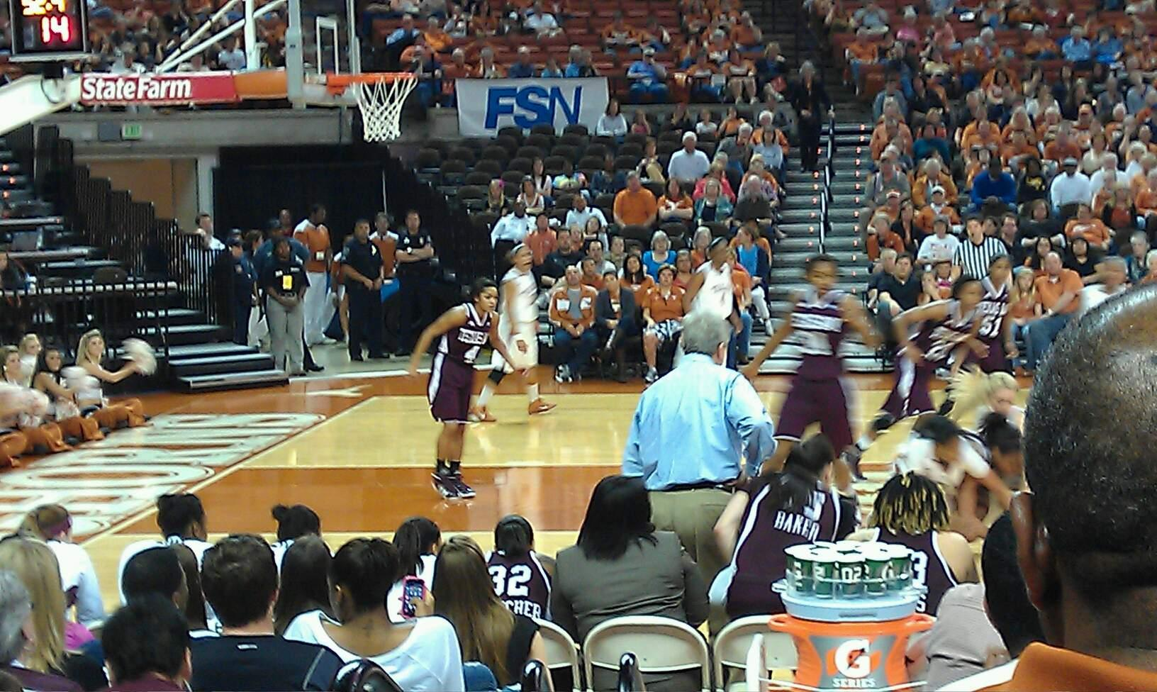 Frank Erwin Center Section 49 Row 9 Seat 10