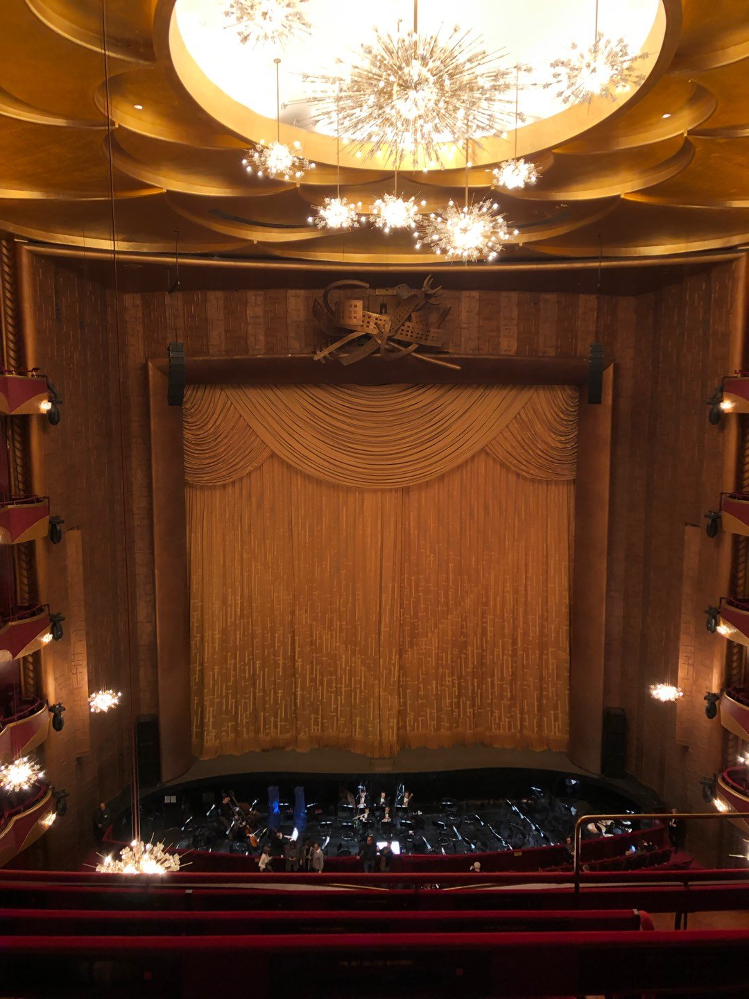 Metropolitan Opera House - Lincoln Center Section Balcony Row D Seat 103