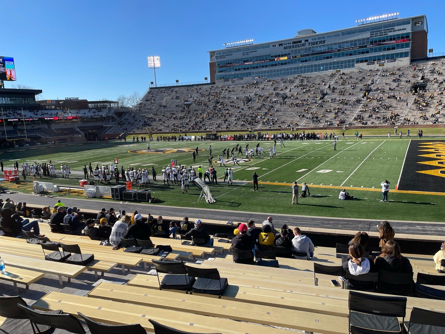Faurot Field Section 109 Row 21 Seat 20