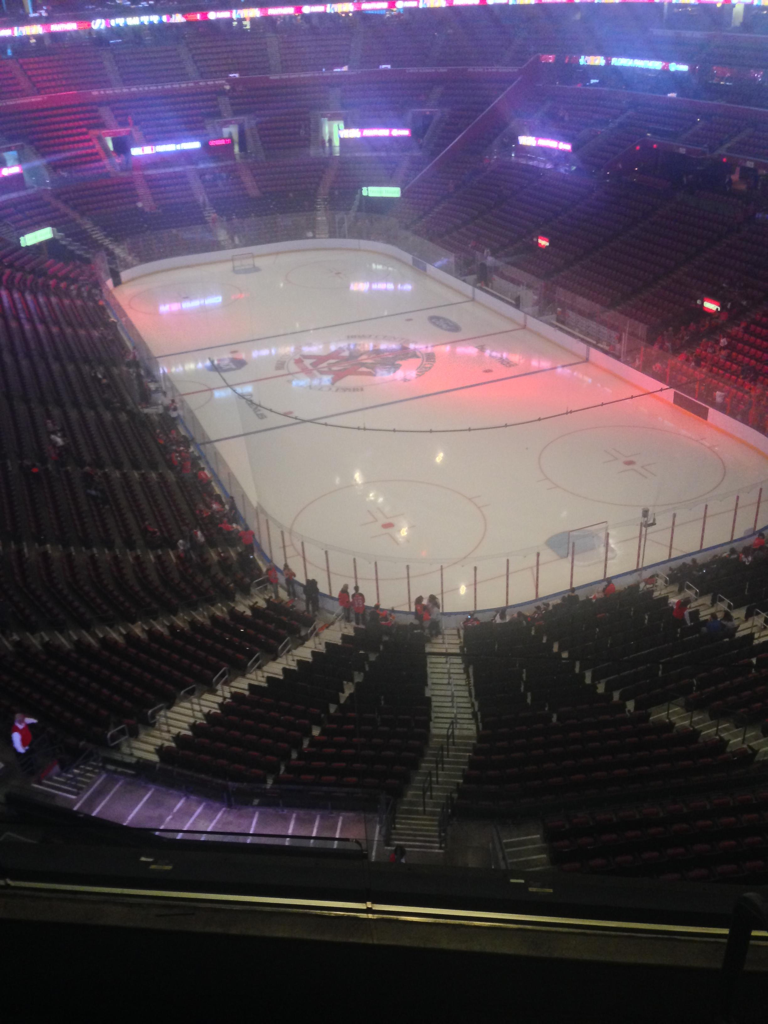 BB&T Center Section 412 Row 2 Seat 1