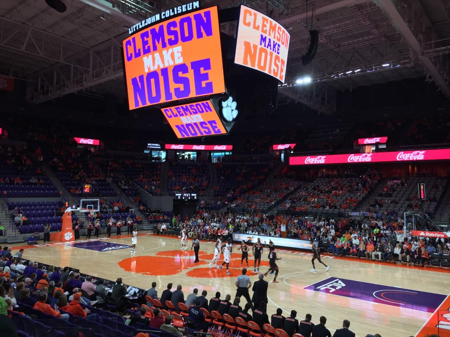 Littlejohn Coliseum Section 116 Row M Seat 7