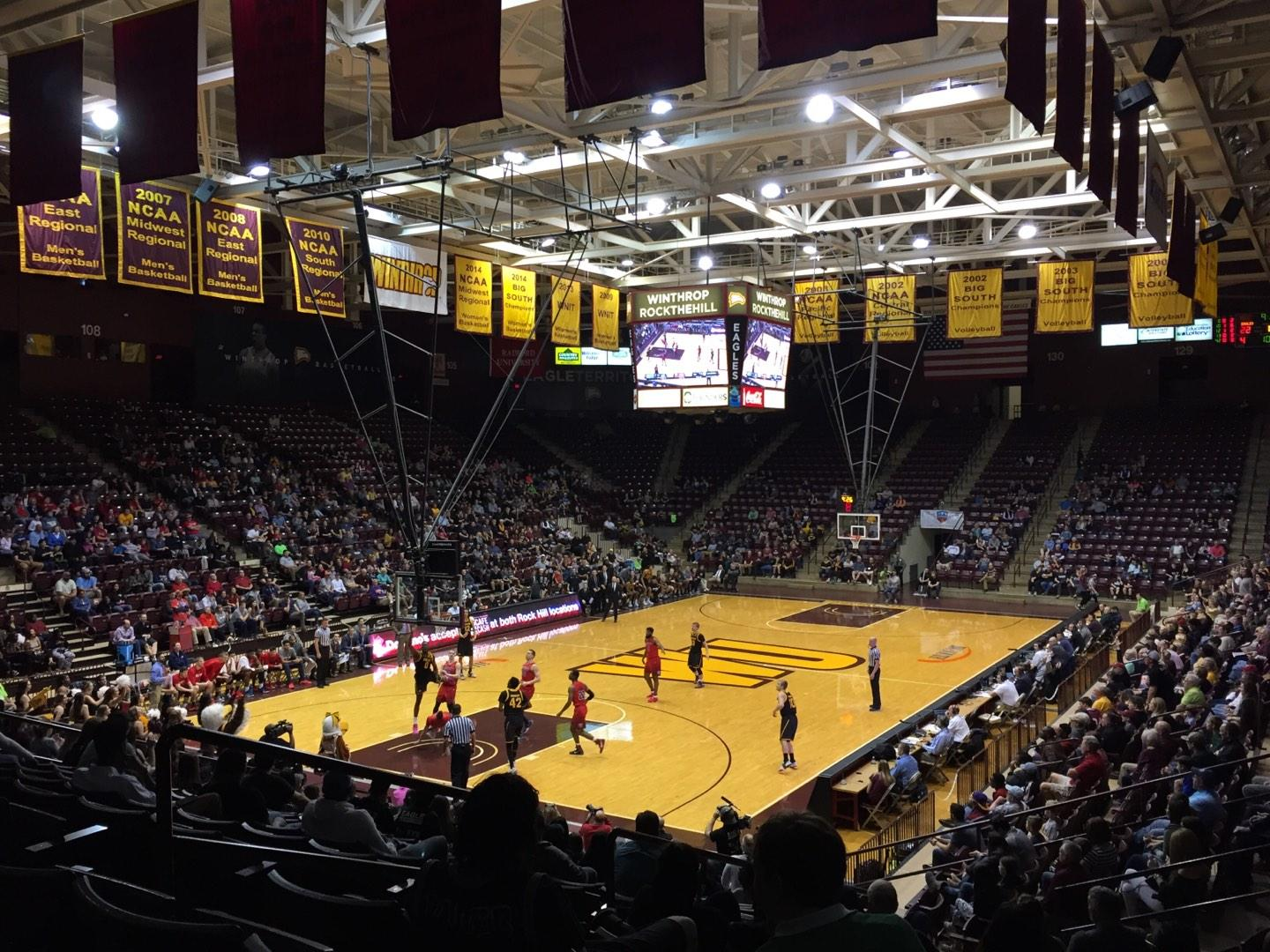 Winthrop Coliseum Section 118 Row P Seat 9