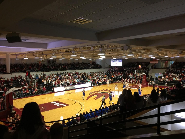 Alumni Gym (Elon University) Section 210 Row E Seat 1