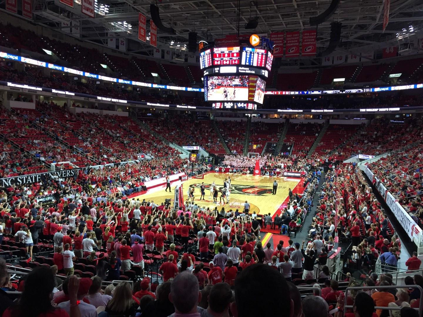 PNC Arena Section 125 Row W Seat 7