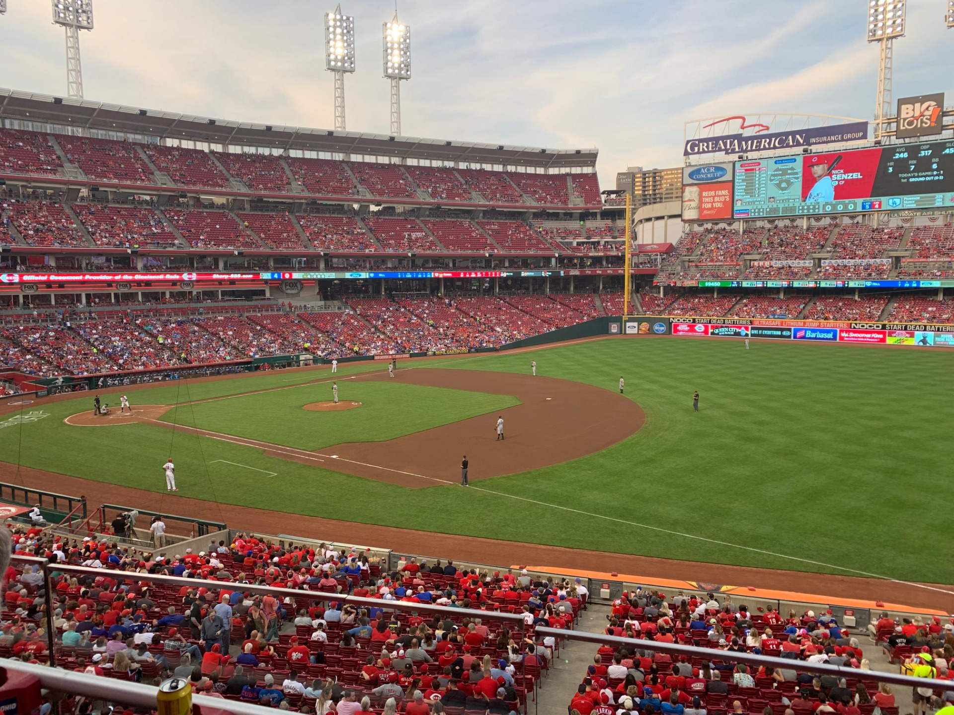 Great American Ball Park Section 306 Row B Seat 8