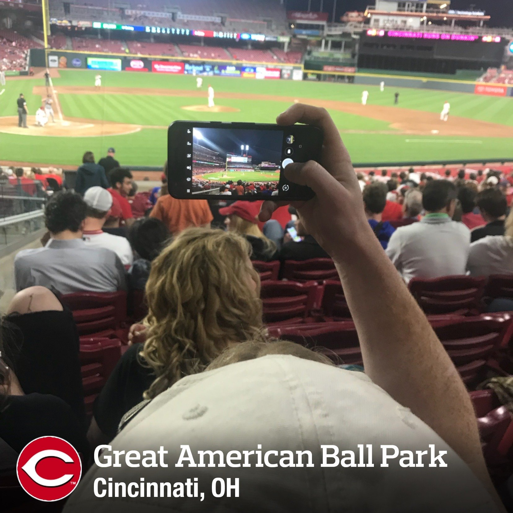 Great American Ball Park Section 127 Row W Seat 14