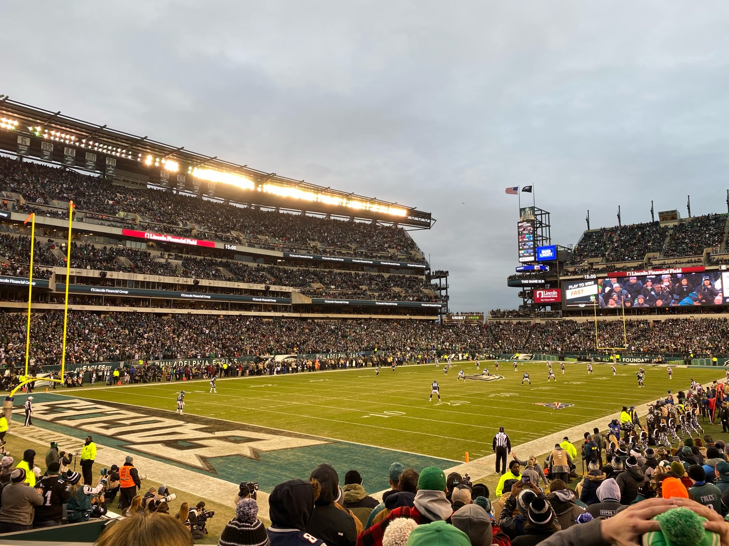 Lincoln Financial Field Section 114 Row 15 Seat 10