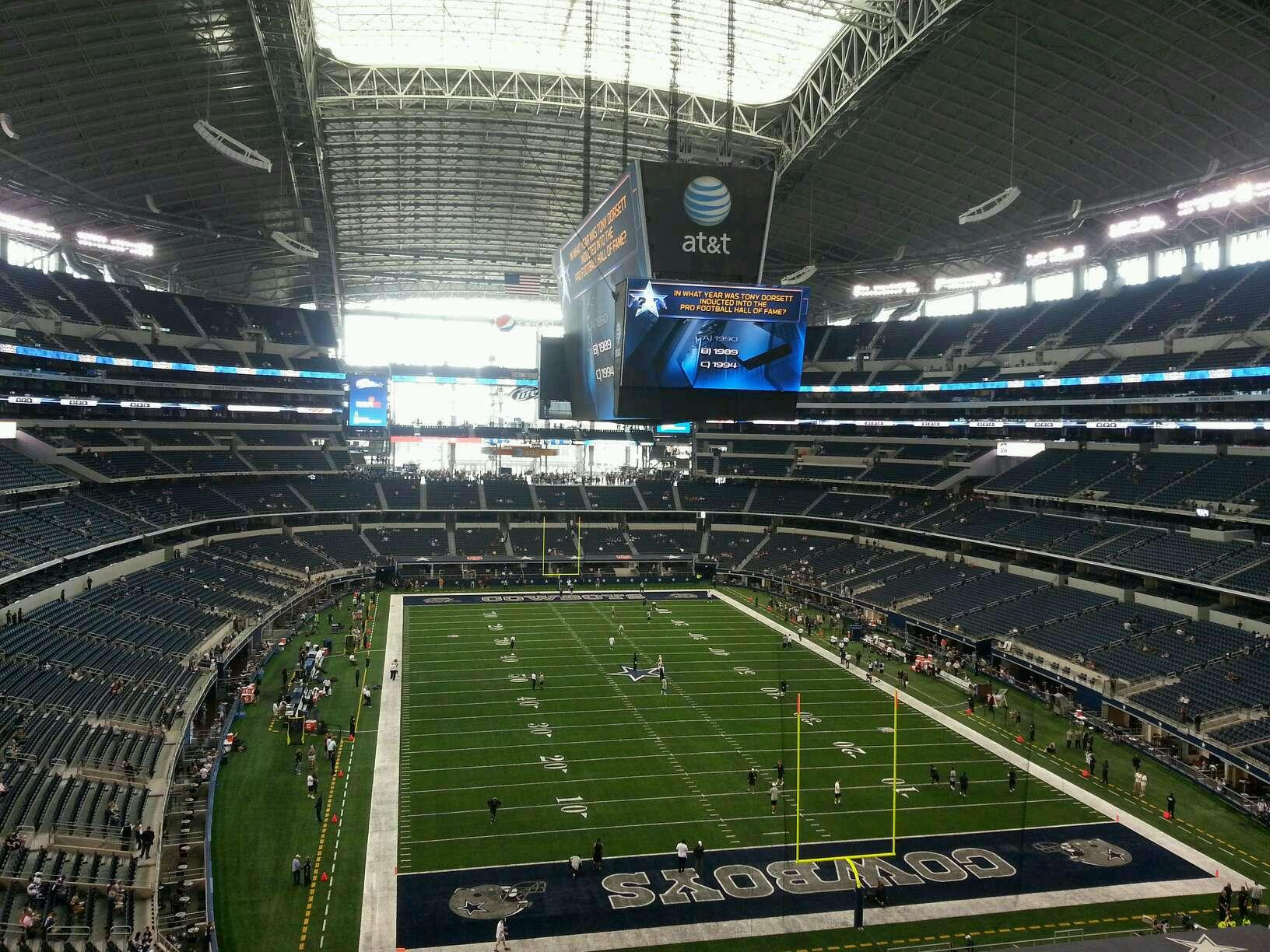 AT&T Stadium Section 350 Row 4 Seat 4