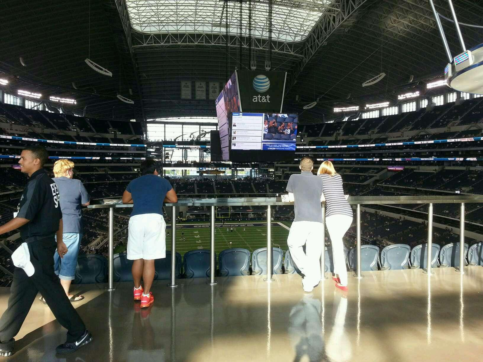 AT&T Stadium Section SRO behind section 325 Row 1st table