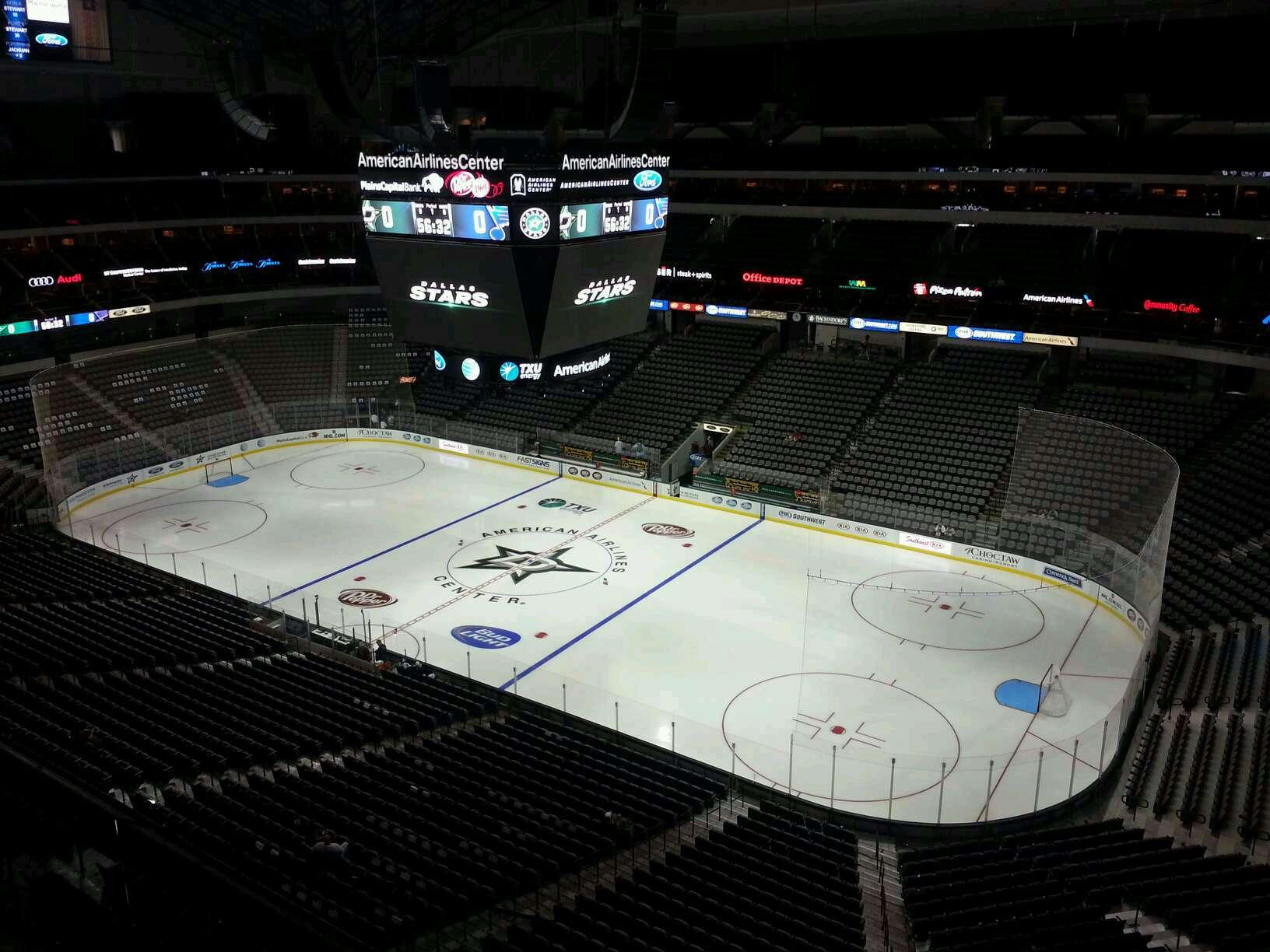 American Airlines Center Section 306 Dallas Stars