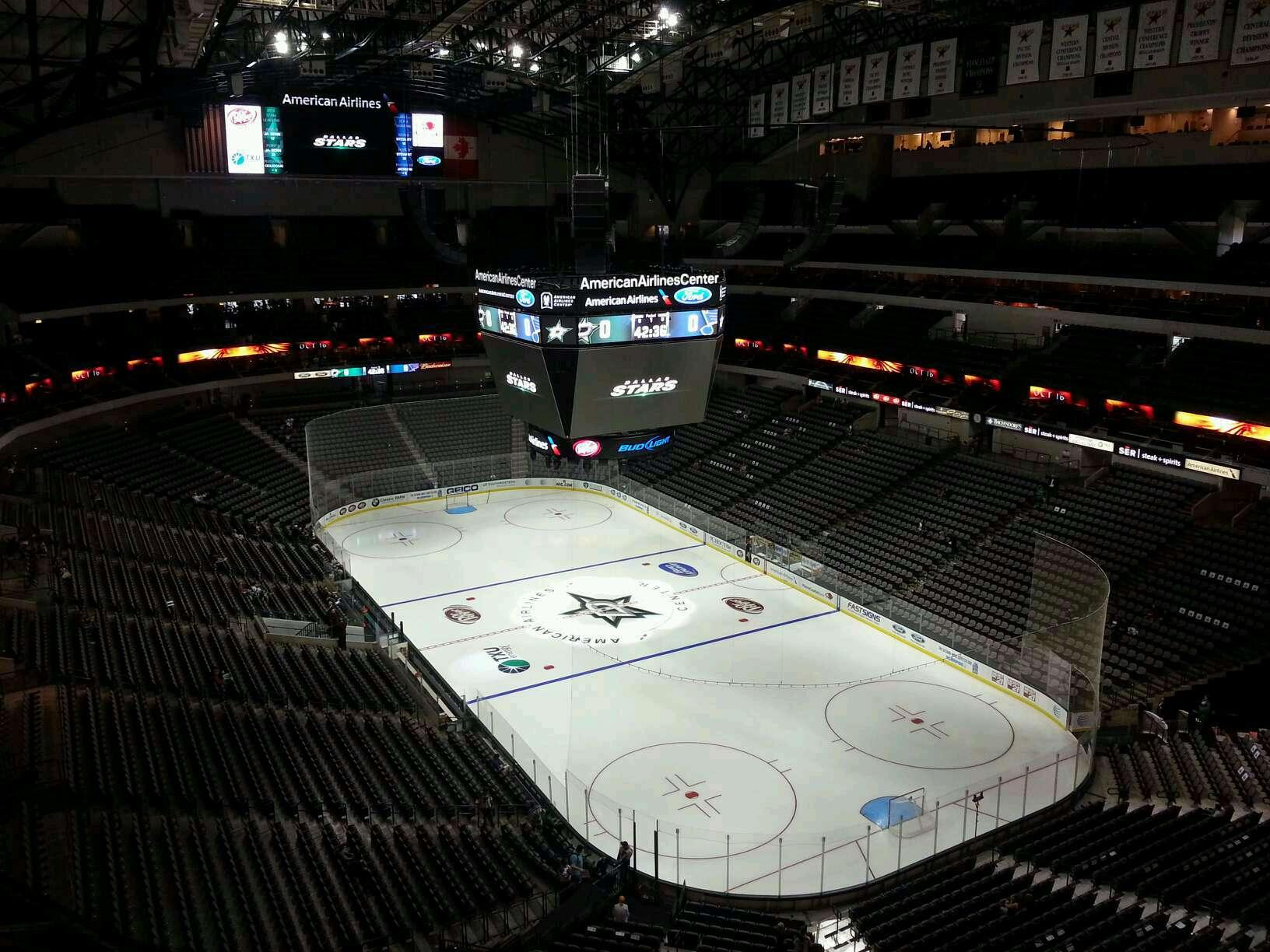 American Airlines Center Section 321 Row J Seat 4