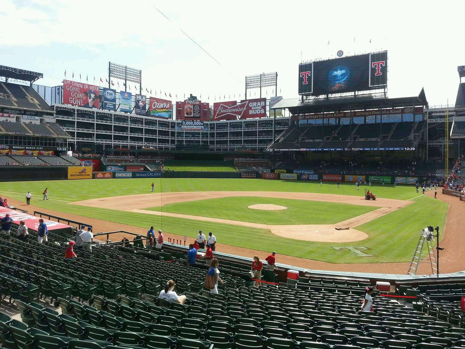Globe Life Park in Arlington Section 24 Row 21 Seat 2