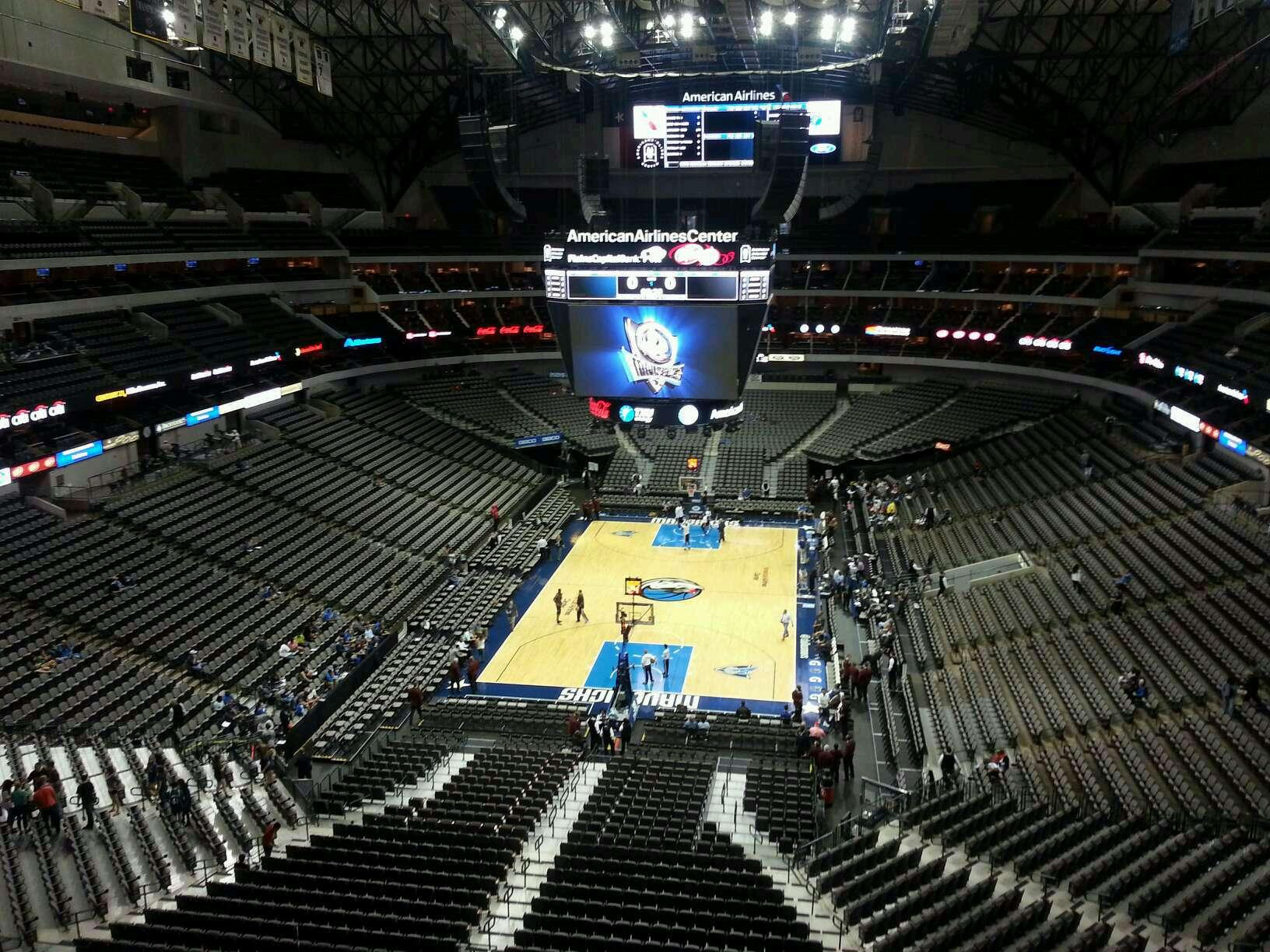 American Airlines Center Section 334 Row B Seat 12
