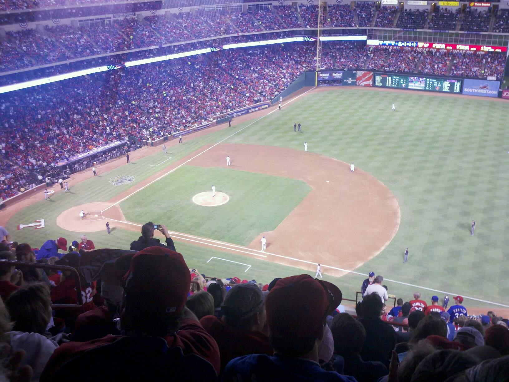 Globe Life Park in Arlington Section 326 Row 20 Seat 6