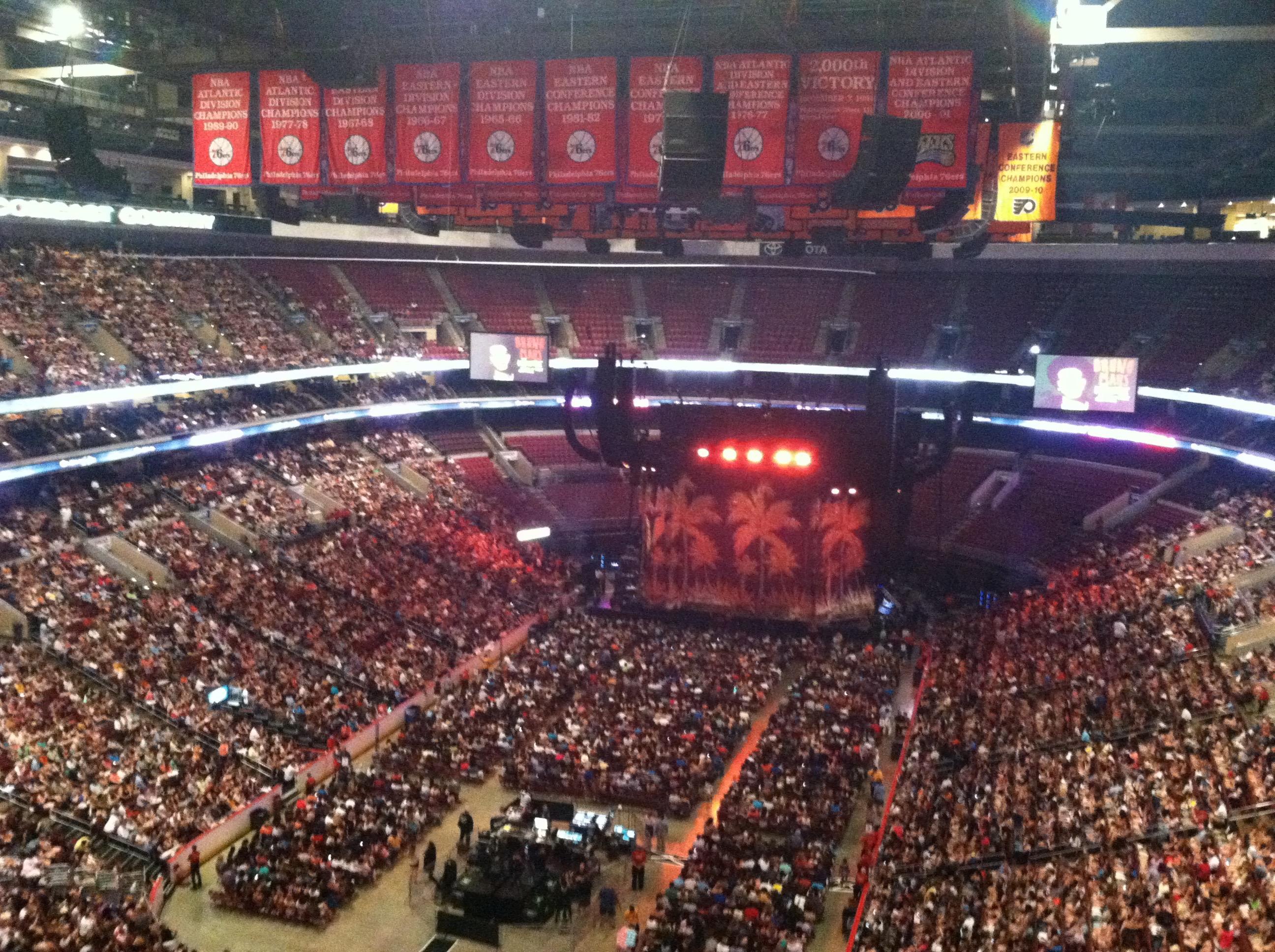 Wells Fargo Center Section 208 Concert Seating