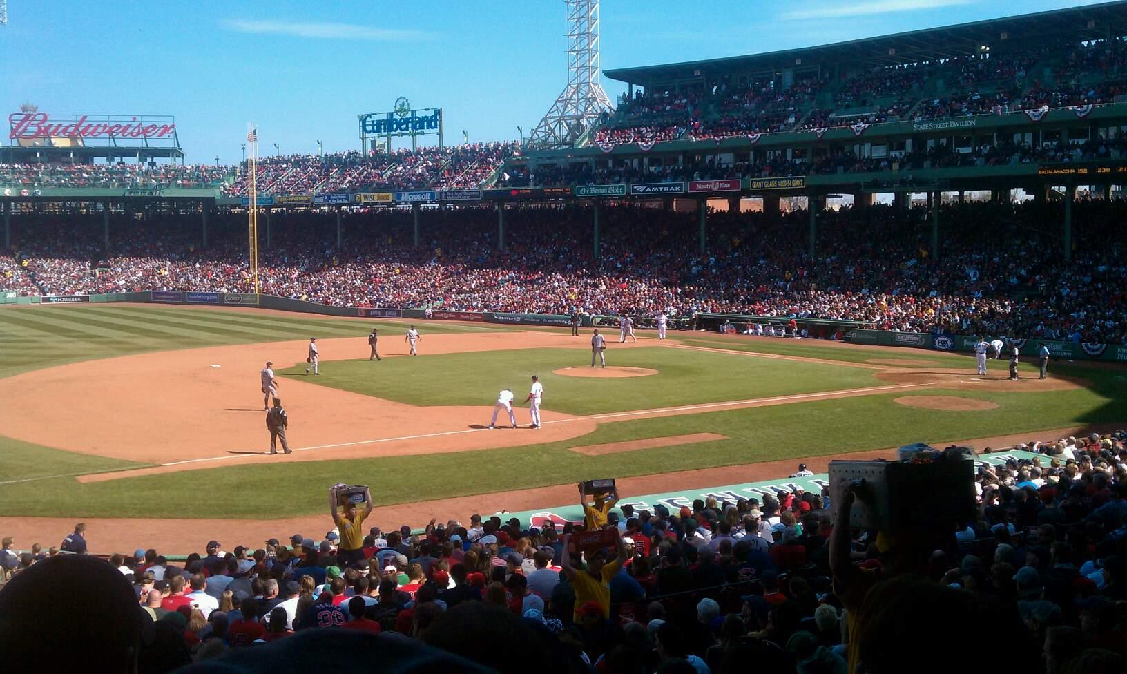 Fenway Park Section Grandstand 29 Row 2 Seat 9