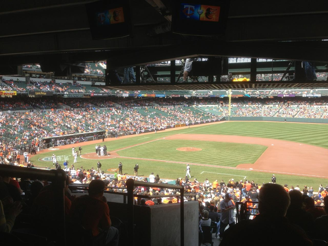 Oriole Park At Camden Yards Section 17 Row 11 Seat 19 Baltimore Orioles Vs Minnesota Twins