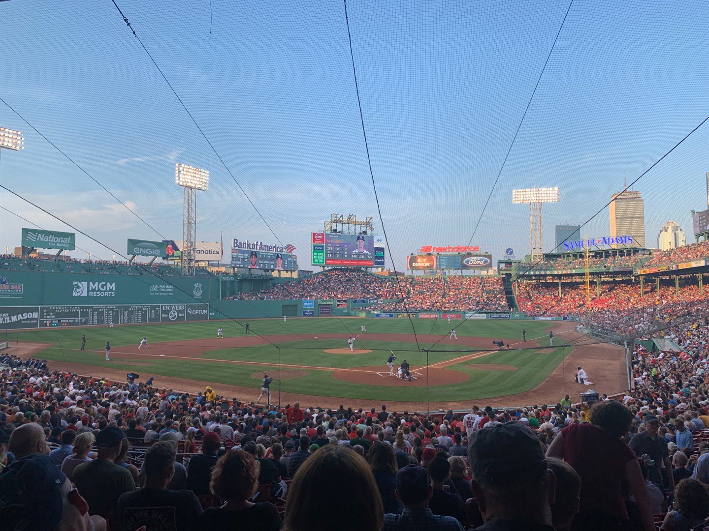 Fenway Park Section Grandstand 22 Row 2 Seat 9