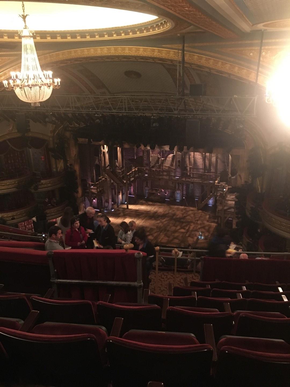 Richard Rodgers Theatre Section Rear Mezzanine R Row G Seat 18