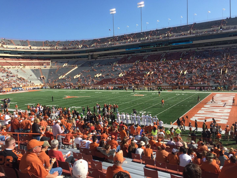 Texas Memorial Stadium Section 2 Row 28 Seat 1