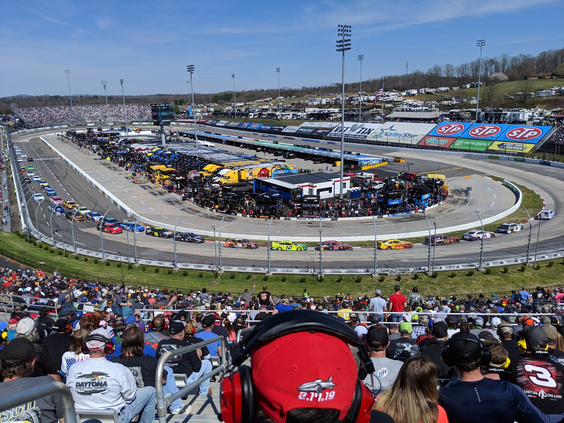Martinsville Speedway Section EE Row 38 Seat 14