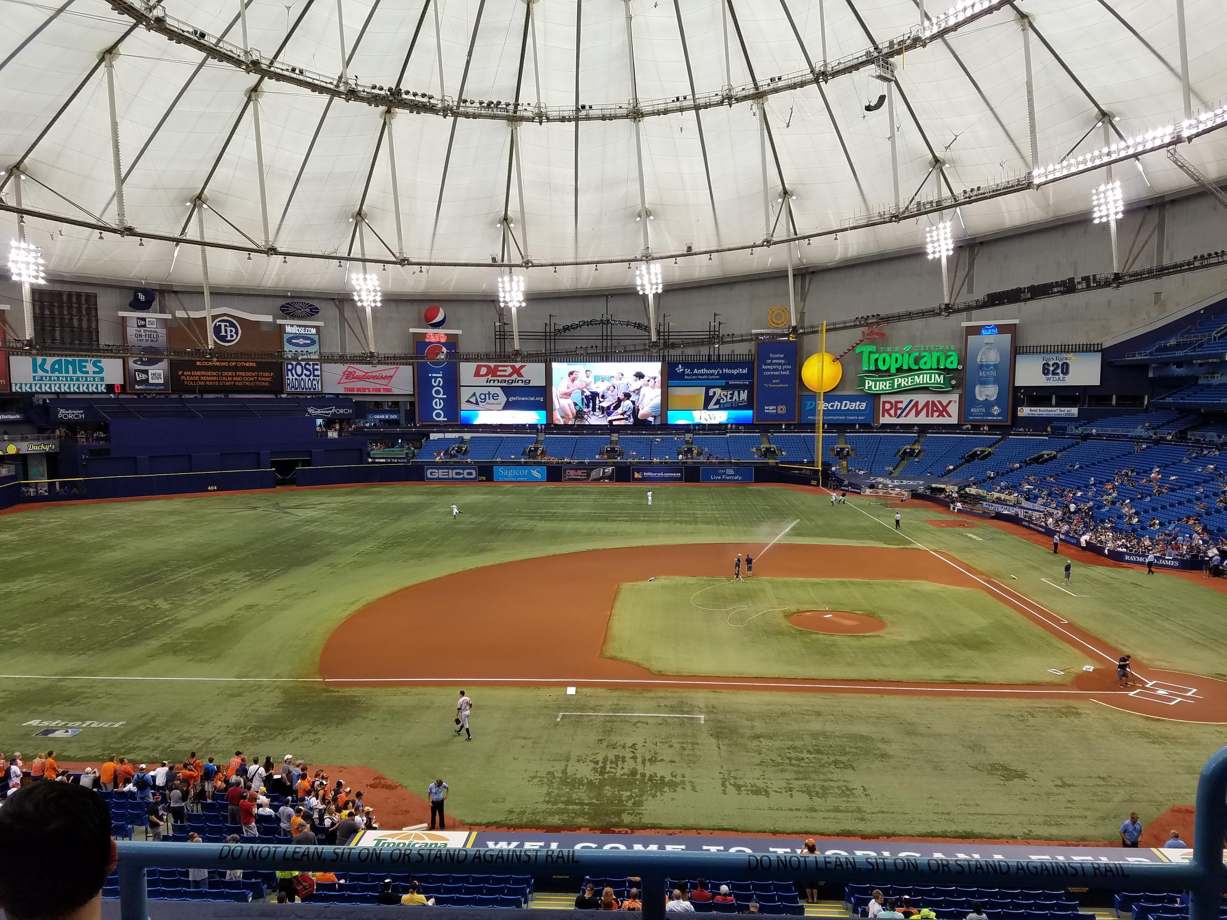 Tropicana Field Section 211 Row C Seat 18