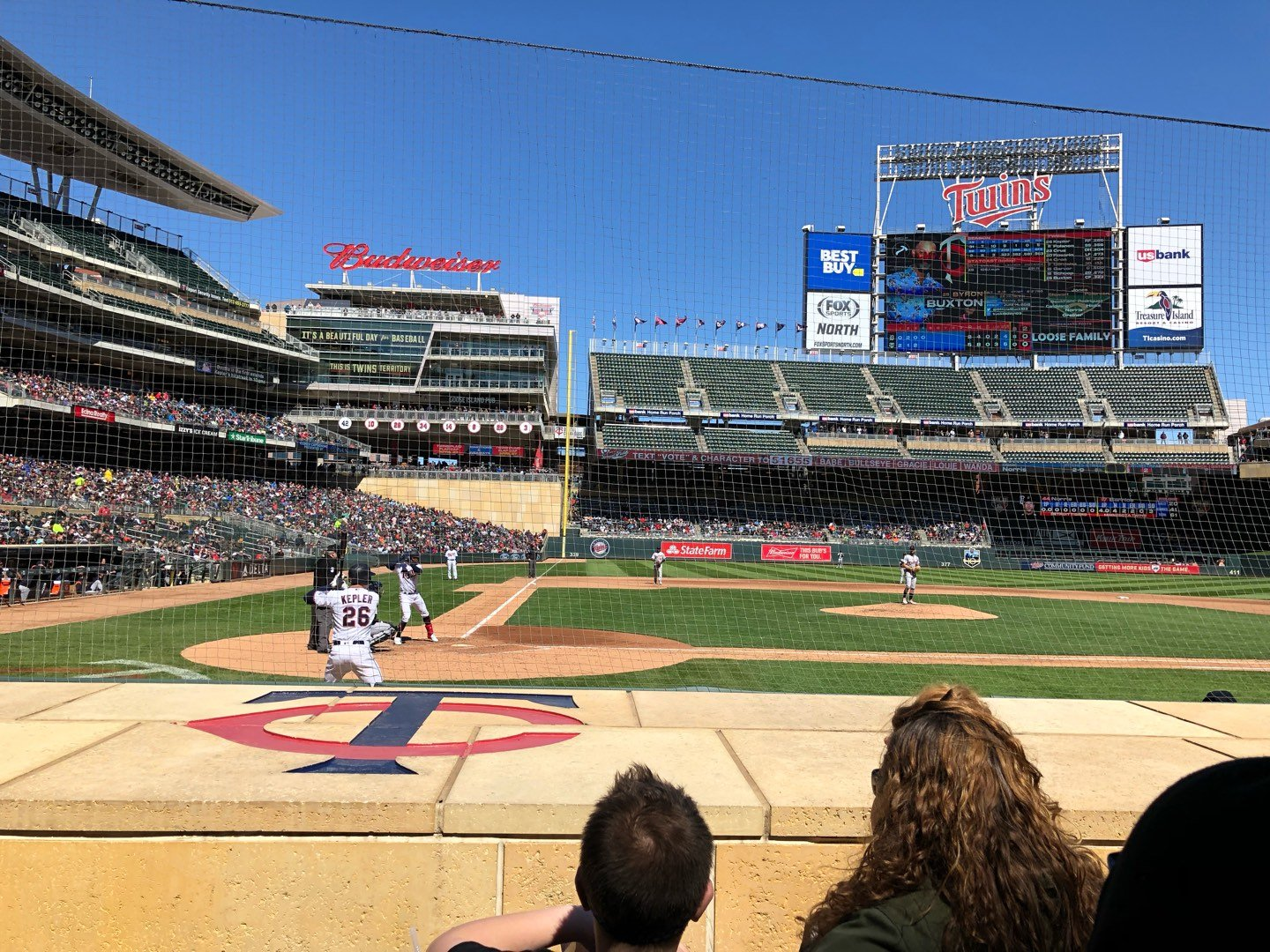 Target Field Section 6 Row 7 Seat 9