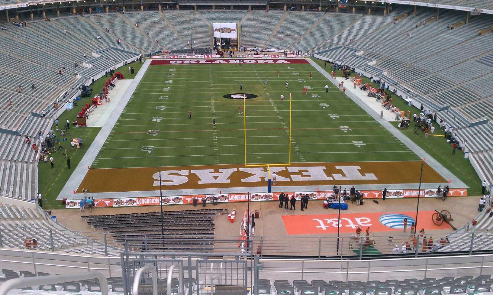 Seat View for Cotton Bowl Section 117, Row 23, Seat 31